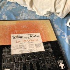 Discos de vinilo: TEATRO ALLA SCALA LA TRAVIATA. Lote 174588345