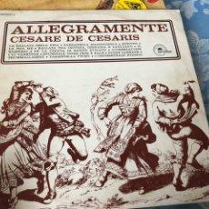 Discos de vinilo: ALLEGRAMENTE CESARE DE CESÁRES. Lote 174594493