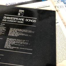Discos de vinilo: SHAKESPEARE SINGS. Lote 174596752