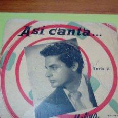 Discos de vinilo: ASI CANTA ANTONIO MOLINA. SERIE 11. VEINTICUATRO CASCABELES. ... MRV. Lote 174631004