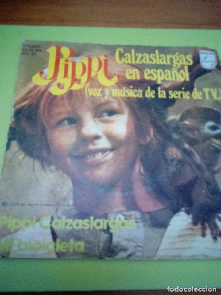 PIPPI CALZASLARGAR EN ESPAÑOL. PIPPI CALZASLARGAS. MI BICICLETA. MRV (Música - Discos - Singles Vinilo - Música Infantil)