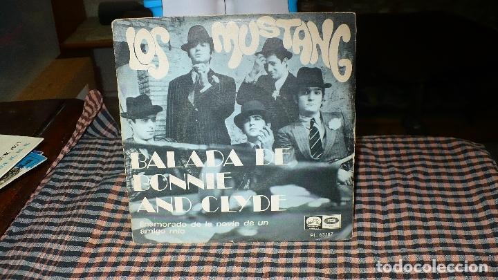 LOS MUSTANG - BALADA DE BONNIE AND CLYDE / ENAMORADO DE LA NOVIA DE UN AMIGO MIO, EMI 1968. (Música - Discos - Singles Vinilo - Grupos Españoles 50 y 60)