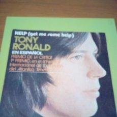 Discos de vinilo: TONY RONALD. EN ESPAÑOL. HELP. MRVB. Lote 174653910