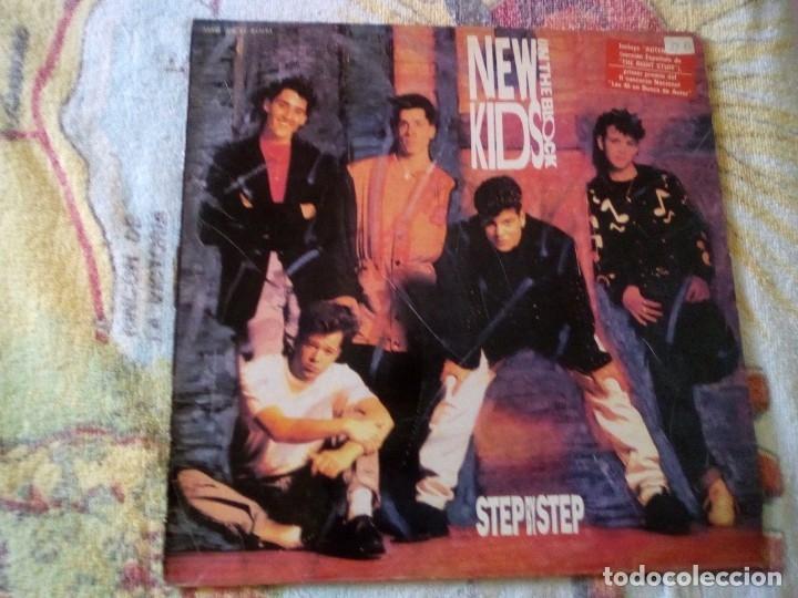 NEW KIDS ON THE BLOCK STEP BY STEP 1990 CBS ED ESPAÑOLA (Música - Discos - LP Vinilo - Otros estilos)