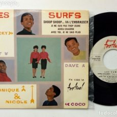 Discos de vinilo: EP: LES SURFS - SHOOP SHOOP... VA L'EMBRASSER + JE NE SUIS PAS TROP JEUNA + ADIEU CHAGRIN (FESTIVAL). Lote 174851073