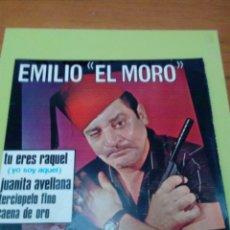 Discos de vinilo: EMILIO EL MORO. TU ERES RAQUEL. JUANITA AVELLANA. TERCIOPELO FINO. CAENA DE ORO. MRVB. Lote 174866319