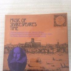 Discos de vinilo: MÚSICA OF SHAKESPEARES. Lote 174867833