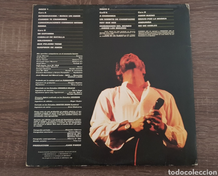 Discos de vinilo: JUAN PARDO - POR LA MUSICA - DISCO VINILO HISPAVOX 1985 LP - Foto 2 - 174881503
