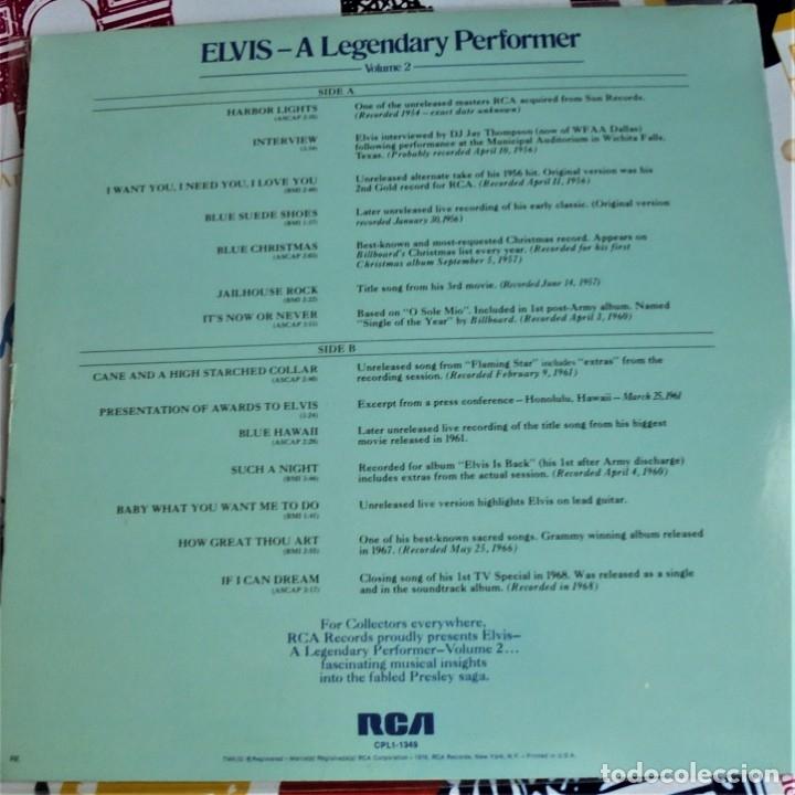 Discos de vinilo: ELVIS PRESLEY - A LEGENDARY PERFORMER VOL.2 - RCA CPL1-1349 STEREO LP. EDITADO EN USA, 1976. - Foto 2 - 174576585