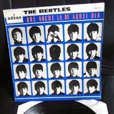 Discos de vinilo: BEATLES QUE NOCHE LA DE AQUEL DIA EDICION EMI ODEON ESPAÑA MONOAURAL 1964 NUEVO FUNDA LAMINADA. Lote 174887302