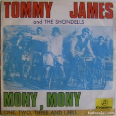 Discos de vinilo: TOMMY JAMES AND THE SHONDELLS-MONY, MONY, COLUMBIA-ME 443. Lote 174897883