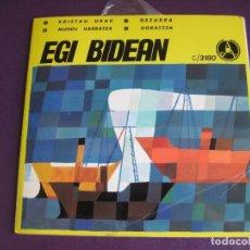 Discos de vinilo: EGI BIDEAN EP PAX 1970 - KRISTAU URAK/ GEZURRA/ MUNDU GARRATXA +1 FOLK POP CRISTIANO EUSKERA EUSKADI. Lote 174899034