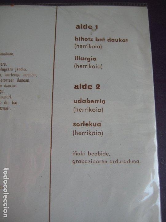 Discos de vinilo: DRINDOTS EP EDIGSA HG 1972 - KANTU ZAHARRAK - BIHOTZ BAT DAUKAT +3 FOLK 70S EUSKADI EUSKERA - Foto 3 - 174900749