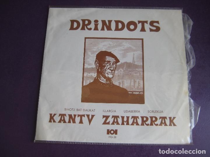 DRINDOTS EP EDIGSA HG 1972 - KANTU ZAHARRAK - BIHOTZ BAT DAUKAT +3 FOLK 70'S EUSKADI EUSKERA (Música - Discos de Vinilo - EPs - Grupos Españoles de los 70 y 80)