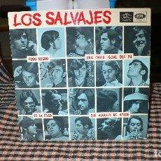 Discos de vinilo: LOS SALVAJES - TODO NEGRO, UNA CHICA IGUAL QUE TU, ES LA EDAD, QUE ALGUIEN ME AYUDE, REGAL EMI 1966.. Lote 174909270