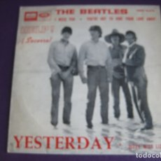 Dischi in vinile: THE BEATLES EP EMI ODEON 1965 HELP/ YESTERDAY/ I NEED YOU/ YOU'VE GOT TO HIDE YOUR LOVE AWAY . Lote 174912379