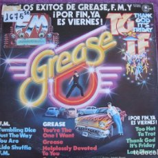 Discos de vinilo: LP - LOS EXITOS DE F.M., GREASE, POR FIN, YA ES VIERNES - FRIDAY NIGHT FEVER GROUP. Lote 174969893