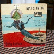 Discos de vinilo: BILLY CAFARO-MARCIANITA, MIRA QUE LUNA, AMOR MARAVILLOSO, PARA MI ERES DIVINA,FONTANA 1960, AMARILOL. Lote 174999340