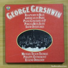 Discos de vinilo: GEORGE GERSHWIN - RHAPSODY IN BLUE / AMERICAN IN PARIS - BOX 3 LP. Lote 175007952