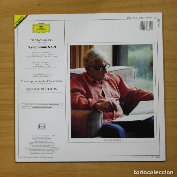 Discos de vinilo: MAHLER / LEONARD BERNSTEIN - SYMPHONIE NO 4 - LP - Foto 2 - 175008292