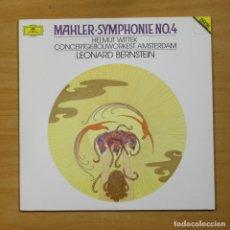Discos de vinilo: MAHLER / LEONARD BERNSTEIN - SYMPHONIE NO 4 - LP. Lote 175008292