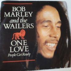 Discos de vinilo: BOB MARLEY- ONE LOVE- SPAIN PROMO SINGLE 1984- VINILO COMO NUEVO.. Lote 175011880