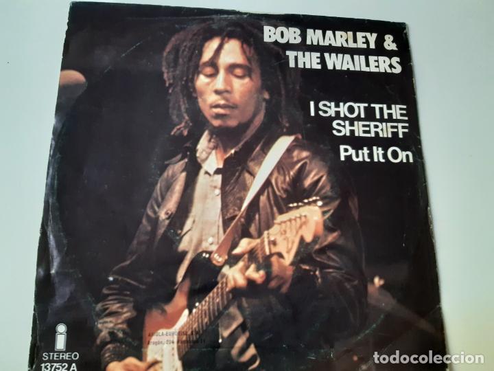 Discos de vinilo: BOB MARLEY- I SHOT THE SHERIFF - SPAIN SINGLE 1975 - VINILO CASI NUEVO. - Foto 2 - 175012369