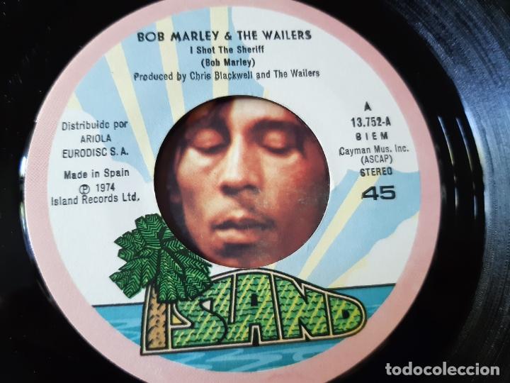 Discos de vinilo: BOB MARLEY- I SHOT THE SHERIFF - SPAIN SINGLE 1975 - VINILO CASI NUEVO. - Foto 3 - 175012369