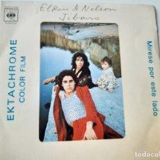 Discos de vinilo: ELKIN & NELSON- JIBARO - SPAIN SINGLE 1974 - VINILO CASI NUEVO.. Lote 175012984