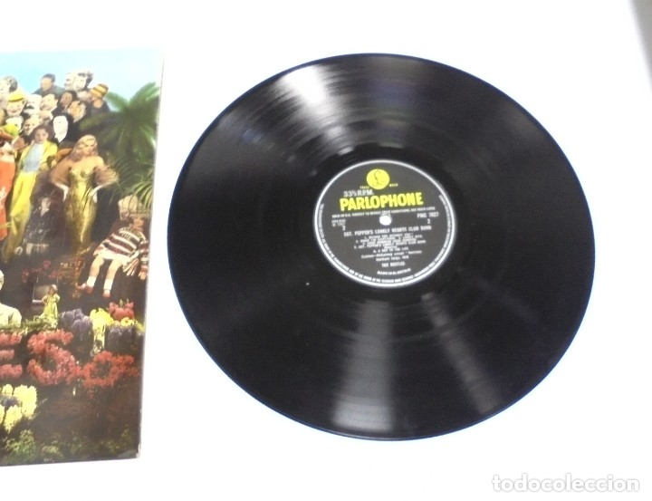 Discos de vinilo: LP. THE BEATLES. SGT. PEPPERS CLUB BAND. LONELY HEARTS. 1967. CONTIENE ENCARTE. INGLATERRA - Foto 4 - 173728290