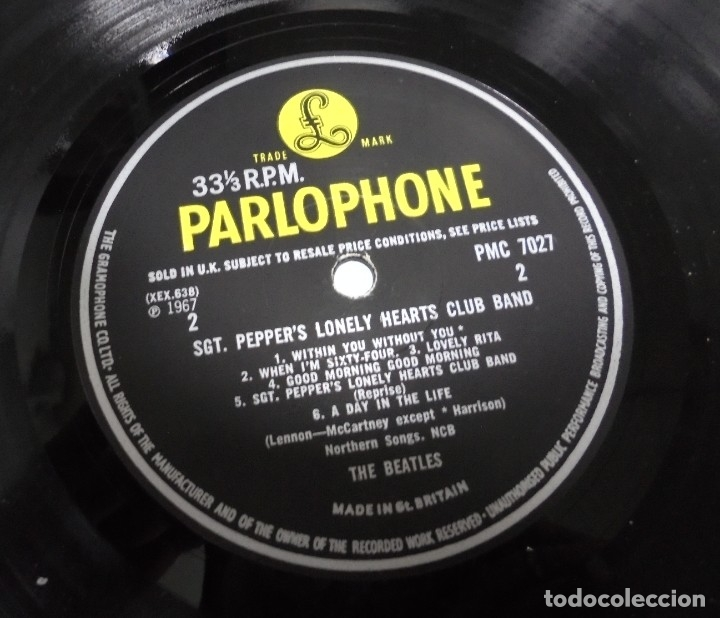 Discos de vinilo: LP. THE BEATLES. SGT. PEPPERS CLUB BAND. LONELY HEARTS. 1967. CONTIENE ENCARTE. INGLATERRA - Foto 5 - 173728290
