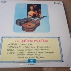 Discos de vinilo: KONRAD RAGOSSNIG–LA GUITARRA ESPAÑOLA . ALBENIZ / GRANADOS / FALLA. LP VINILO 1976.. Lote 175020213