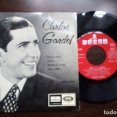 Discos de vinilo: EP 7'' CARLOS GARDEL – POR UNA CABEZA. Lote 175021009
