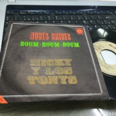 Discos de vinilo: MICKY Y LOS TONYS SINGLE PROMOCIONAL NUBES GRISES 1970. Lote 175026428
