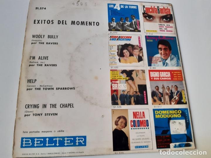 Discos de vinilo: THE RAVERS- THE TOWN SPARROWS-TONY STEVEN- EXITOS DEL MOMENTO- SPAIN EP 1965. - Foto 2 - 175027044