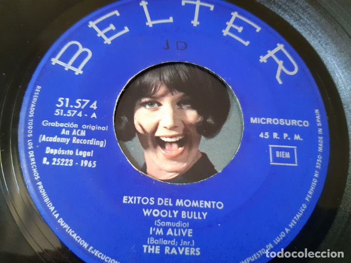 Discos de vinilo: THE RAVERS- THE TOWN SPARROWS-TONY STEVEN- EXITOS DEL MOMENTO- SPAIN EP 1965. - Foto 3 - 175027044