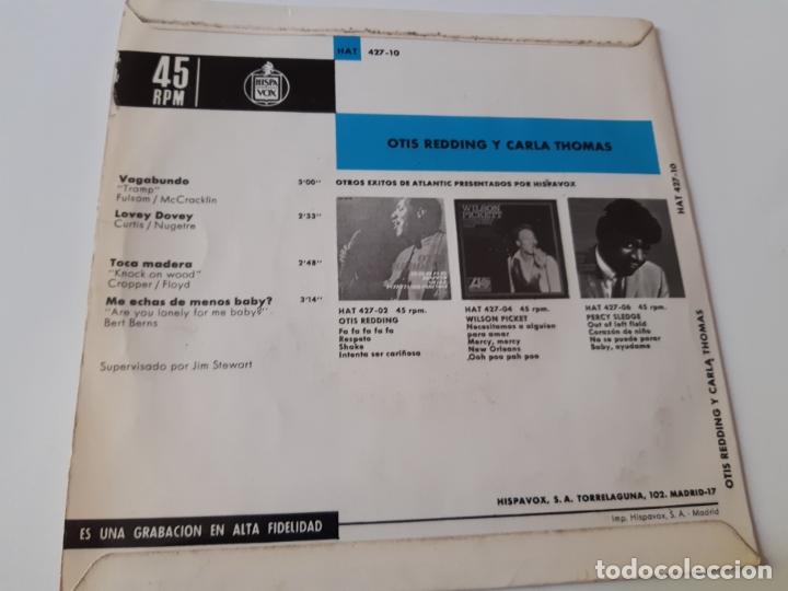 Discos de vinilo: OTIS REDDING- CARLA THOMAS- VAGABUNDO - SPAIN EP 1967. - Foto 2 - 175027625