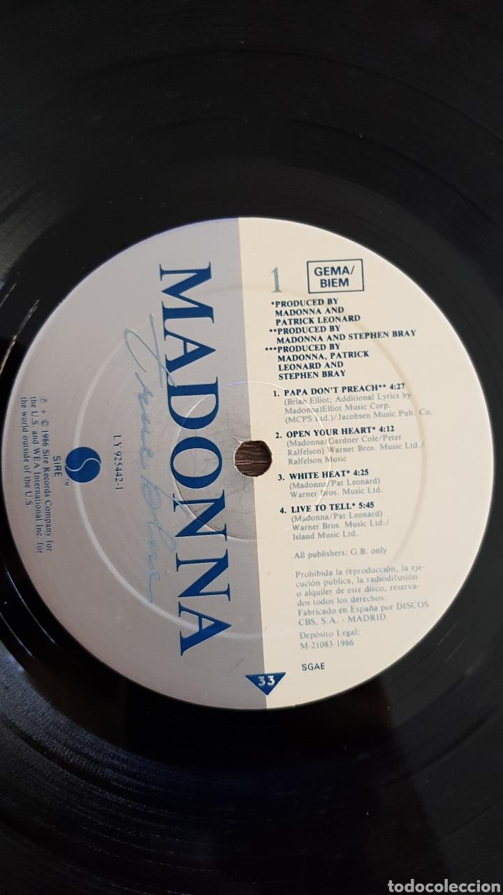 Discos de vinilo: MADONNA TRUE BLUE DISCO VINILO 1986 LP CON ENCARTE - Foto 3 - 175027988