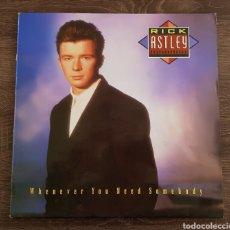 Discos de vinilo: RICK ASTLEY - WHENEVER YOU NEED SOMEBODY - DISCO VINILO LP ESPAÑA 1987. Lote 175029175