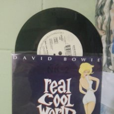 Discos de vinilo: DAVID BOWIE REAL COOL WORLD SINGLE GERMANY 1992 PDELUXE. Lote 175039630