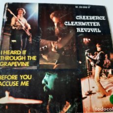 Discos de vinilo: CREEDENCE CLEARWATER REVIVAL- I HEARD IT THROUGH THE GRAPEVINE-SPAIN SINGLE 1974.. Lote 175040359