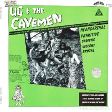 Discos de vinilo: UG & THE CAVEMEN UG & THE CAVEMEN LP (GATEFOLD) + DVD . THE CRAMPS TRASH ROCK . Lote 175043922