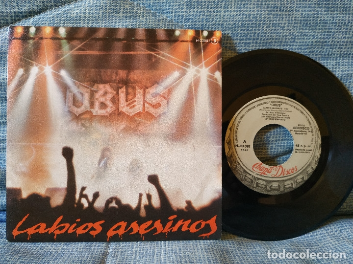 OBUS - LABIOS ASESINOS / ESTUPIDO ACUSADOR - SINGLE CHAPA DISCOS 1983 HEAVY METAL - EXCELENTE ESTADO (Música - Discos - Singles Vinilo - Heavy - Metal)