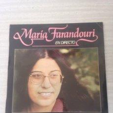 Discos de vinilo: MARÍA FARANDOURI. Lote 175064409