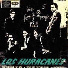 Discos de vinilo: LOS HURACANES - FOR YOUR LOVE + AUN + OCHO DIAS CAYENDO LLUVIA + EN TINIEBLAS EP 1965 RARO. Lote 175074202