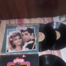 Discos de vinilo: GREASE,DOBLE LP+GREASE 2. Lote 175075522