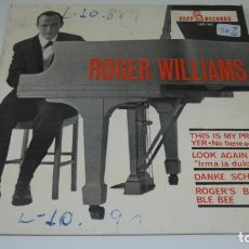 Discos de vinilo: DISCO SINGLE VINILO ROGER WILLIAMS . . Lote 175103963