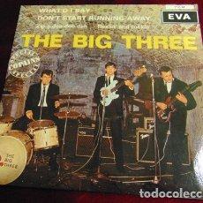 Discos de vinilo: THE BIG THREE – THE BIG THREE - EP EVA RECORDS VINILO VERDE 1991. Lote 175105284