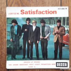 Discos de vinilo: THE ROLLING STONES - (I CAN'T GET NO) SATISFACTION + GROWN UP WRONG + THE UNDER ASSISTANT WEST COAST. Lote 175107344