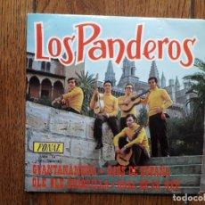 Discos de vinilo: LOS PANDEROS - GUANTANAMERA + OLE, OLE CHIQUILLA + OJOS DE ESPAÑA + BALL DE SA NEU. Lote 175107947